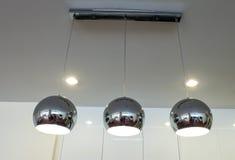 Silberne Küchenlampen Stockfotos