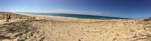 Silberne Küste über dem Antlantic-Ozean Stockbild