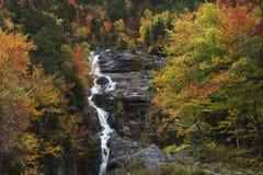 Silberne Kaskade im Herbst Stockfotos