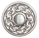 Silberne keltische Brosche stockfotografie