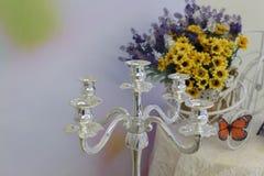 Silberne Kerzenständer Lizenzfreie Stockfotos