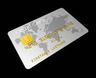 Silberne Kreditkarte Stockbilder