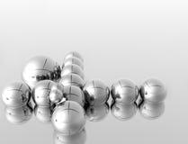 silberne Kugeln 3D stock abbildung