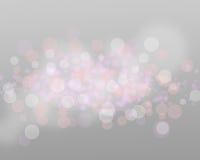 Silberne Lichter und Sterne auf Grey Background Abstract lizenzfreie stockfotografie