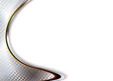 Silberne Metallecke stock abbildung