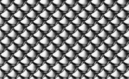 Silberne metallische Rüstungsskalen Stockfotografie