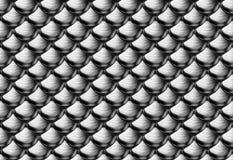 Silberne metallische Rüstungsskalen Lizenzfreie Stockbilder