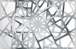 Silberne metallische Rahmen auf silbernem Hintergrund stock abbildung
