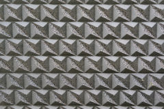 Silberne Musterfliesen Stockfoto