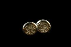 Silberne Ohrringe mit Kristallen Lizenzfreies Stockfoto