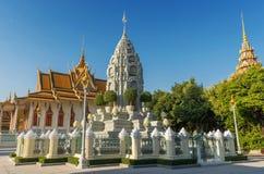 Silberne Pagode/Royal Palace, Phnom Penh, Kambodscha Lizenzfreie Stockfotos
