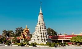 Silberne Pagode/Royal Palace, Phnom Penh, Kambodscha Stockfotografie