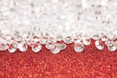 Silberne Perlen stockbild