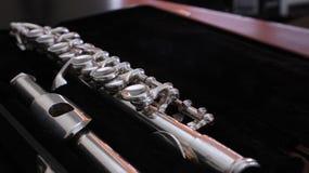 Silberne Piccoloflöte Stockbild