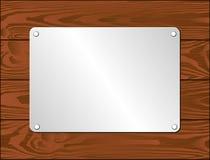 Silberne Plakette Stockbild