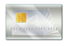 Silberne Plastikscheckkarte Stockfotografie