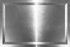 Silberne Platte Stockbild