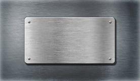 Silberne Platten des Edelstahls Metall stockfoto
