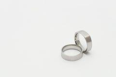 Silberne Ringe Stockbild