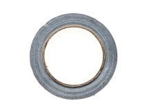 Silberne Rohrvorarbeiter-Reparaturbandrolle lokalisiert auf Weiß Lizenzfreies Stockbild