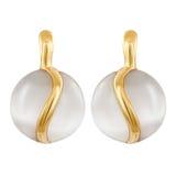 Silberne runde Mode der Ohrringe stilvoll Lizenzfreies Stockbild