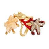 Silberne runde Mode der Ohrringe stilvoll Lizenzfreies Stockfoto