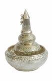 Silberne Schüsselkunst in Thailand Lizenzfreies Stockfoto