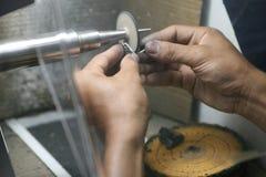 Silberne Schmucksachen Stockbild