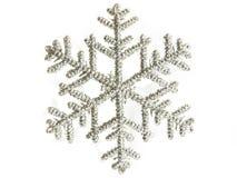 Silberne Schneeflocke Stockbild