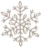 Silberne Schneeflocke Stockfotos