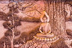 Silberne schnitzende Kunst der thailändischen Art auf Tempelwand, Wat Srisuphan, Ch lizenzfreie stockfotografie