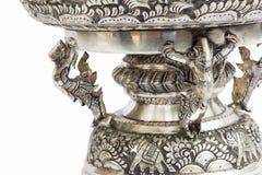 Silberne schnitzende vorbildliche Kunst in Thailand Lizenzfreie Stockbilder