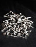 Silberne Schrauben Stockfotos