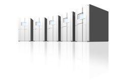 Silberne Servers in einem Kreis Lizenzfreie Stockfotografie