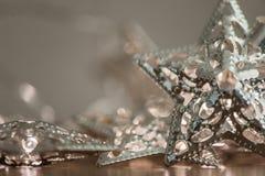 Silberne Sternlichter Stockbild