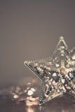 Silberne Sternlichter Stockbilder