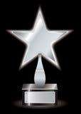 Silberne Sternpreistrophäe Stockbild