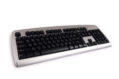 Silberne Tastatur getrennt Lizenzfreies Stockfoto