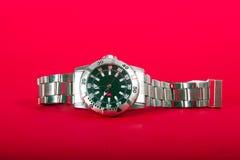 Silberne Uhr Stockfoto