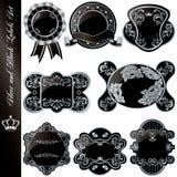 Silberne und schwarze Luxuxfelder stellten ein lizenzfreie abbildung