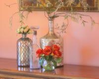Silberne Vasen Stockfoto