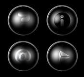 Silberne Web-Ikonen Lizenzfreie Stockbilder
