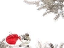 Silberne Weihnachtsanordnung Stockfotos