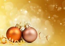 silberne Weihnachtsbälle lizenzfreies stockfoto