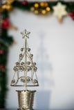Silberne Weihnachtsbaumverzierung Stockfotos