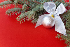 Silberne Weihnachtsdekoration Lizenzfreies Stockfoto