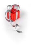 Silberne Weihnachtsdekoration Stockfotos