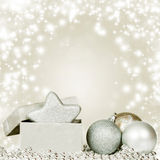 Silberne Weihnachtsdekoration lizenzfreies stockbild