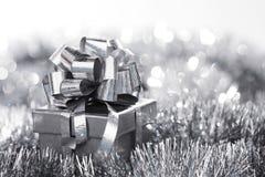 Silberne Weihnachtskarte Lizenzfreies Stockfoto