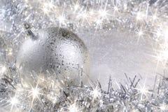 Silberne Weihnachtskarte Lizenzfreie Stockfotografie